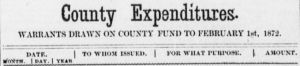 Holt County Expenditures