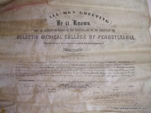 William Stout diploma