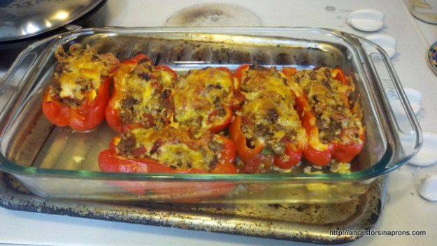 recpe for Stuffed peppers cooked