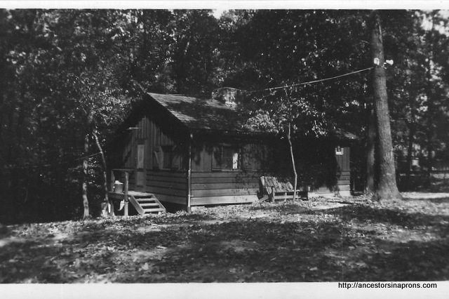 Cabin at Lake Hope State Park, Ohio 1953