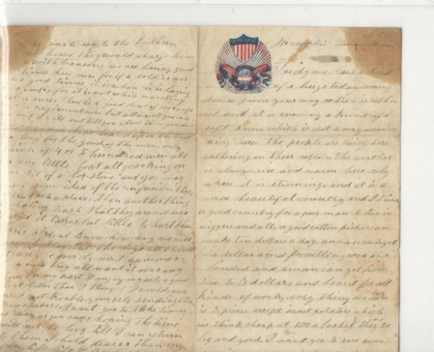 Erasmus Anderson Civil War Letter