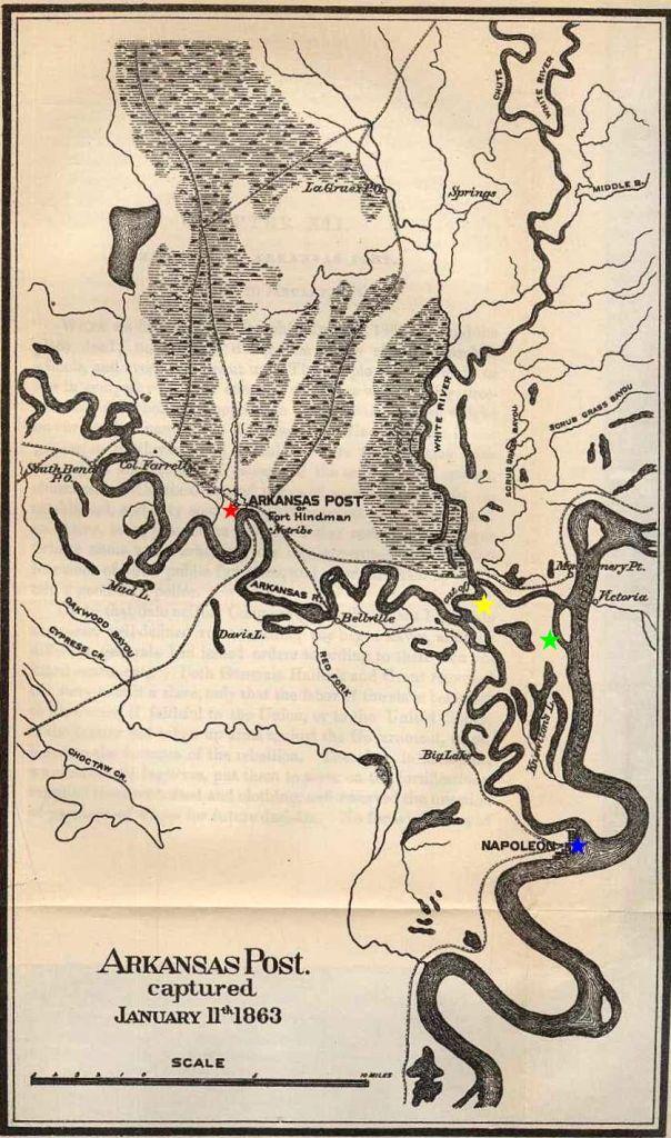 River map of Arkansas Post