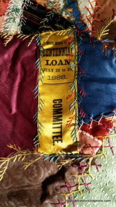 Ribbon in crazy quilt