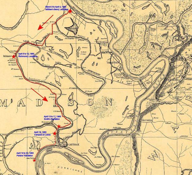 Perkins Plantation on way to Vicksburg