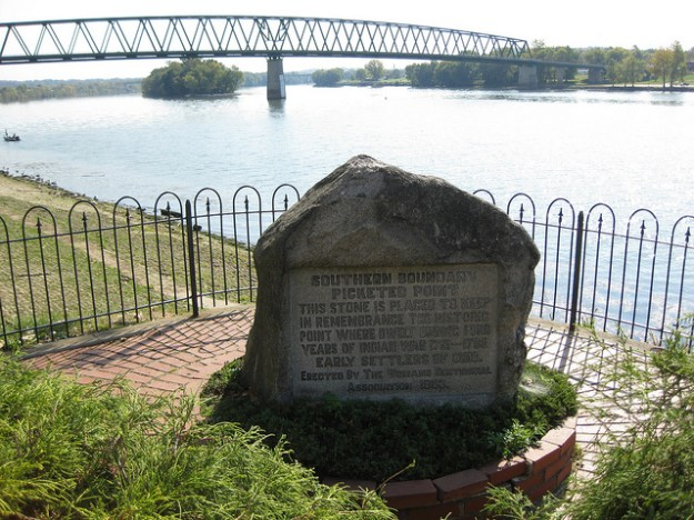 Picketts Point monument to recall the Indian Wars along the Ohio River.
