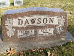 Jennie Butts Dawson Gravestone.