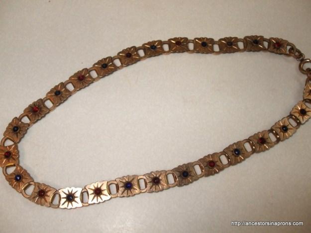 Antique jewelry-watchchain necklace