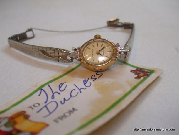 Harriette Anderson Kaser wristwatch.