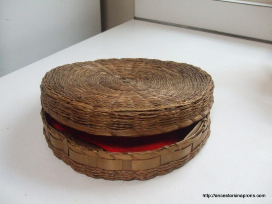 An old sewing basket