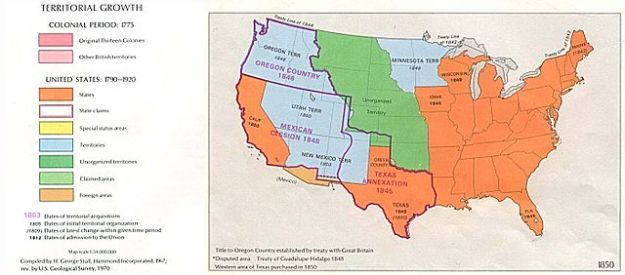 U.S. Map 1850- California