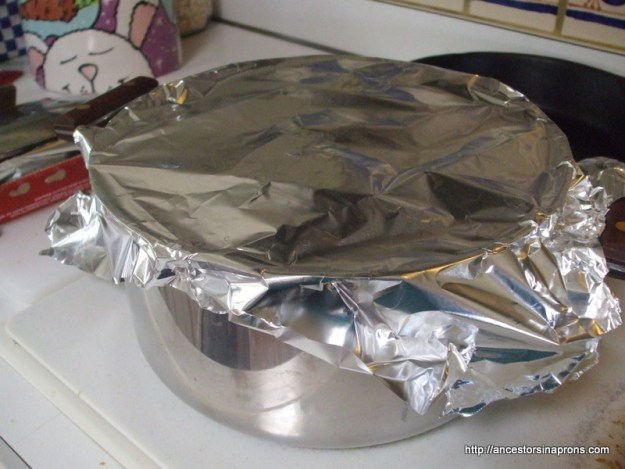 Boston Brown Bread foil lid