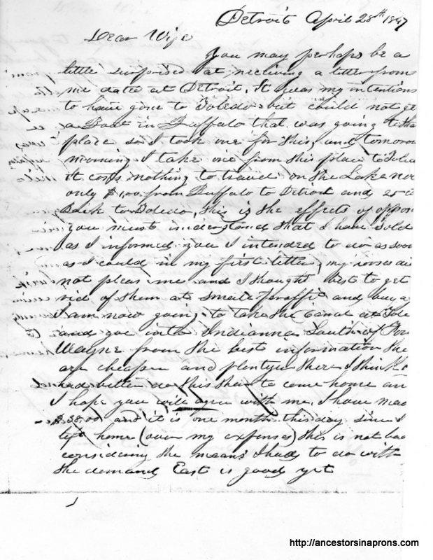 Jesse Morgan Letter