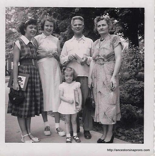 Kaser famkly at Easter 1953.