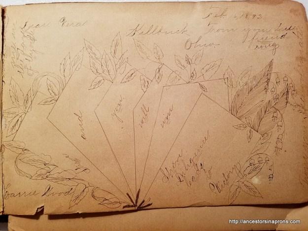 Autograph Book fancy page