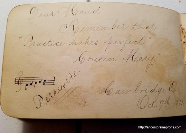 Cousin Mary Stone 1886,