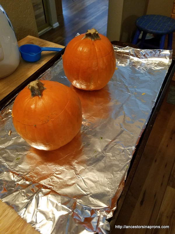 Stuffed pumpkin with lids