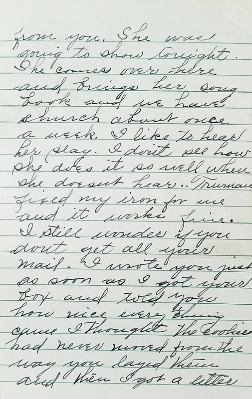 Family Letters from the Homefront