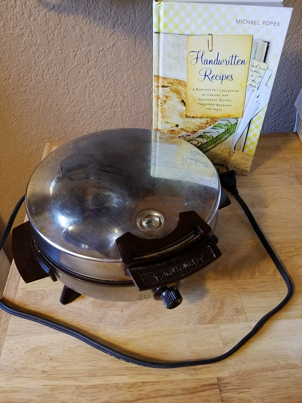 Waffle Iron and Recipe Book