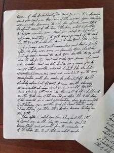 Paul Kaser letter