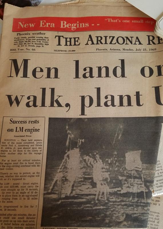 Men land on moon.