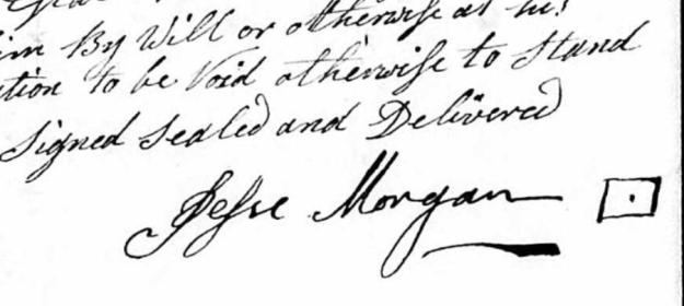 Jesse Morgan Sr. signature