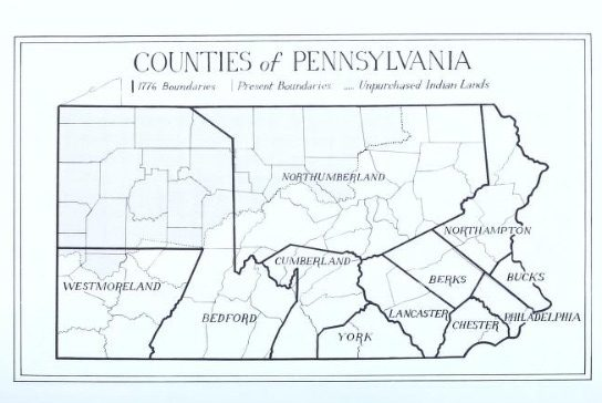 1776 Pennsylvania Counties
