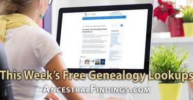 This Week's Free Genealogy Lookups (November 30)