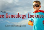 This Week's Free Genealogy Lookups (December 28)