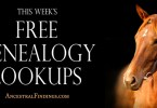 This Week's Free Genealogy Lookups - 2015-11-08