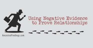 Using Negative Evidence to Prove Relationships