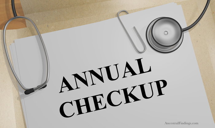 Give Your Genealogy an Annual Checkup