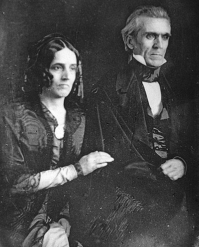 James K. Polk and Sarah Childress Polk.