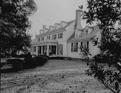 John Tyler, Sherwood Forest, residence in Virginia. Exterior.