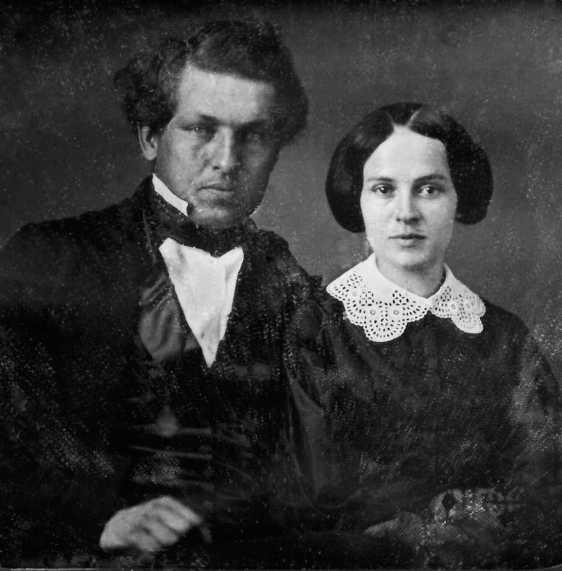 Cleaned up photo of James A. Garfield and Lucretia Rudolph was taken around the time of their engagement. (Western Reserve Historical Society)