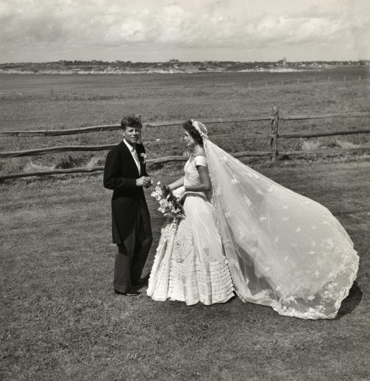 Senator John F. Kennedy and Jacqueline Bouvier Kennedy on their wedding day, September 12, 1953