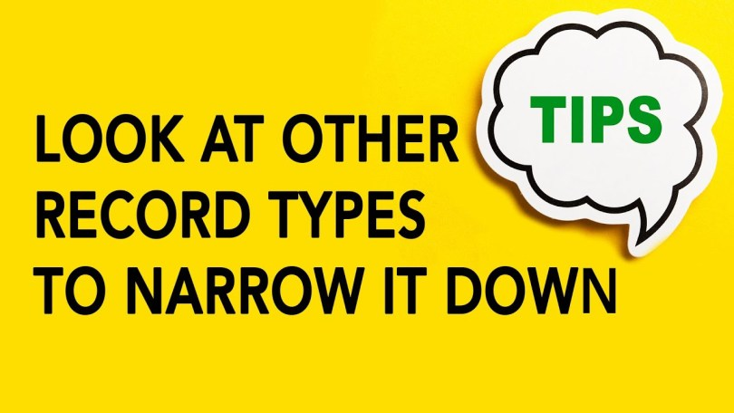 Look at Other Record Types to Narrow it Down   Genealogy Clips #10