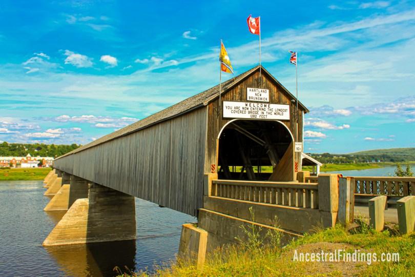 Hartland Bridge in New Brunswick