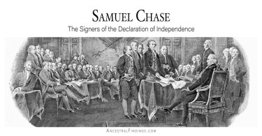 Samuel Chase: Signers of the Declaration of Independence