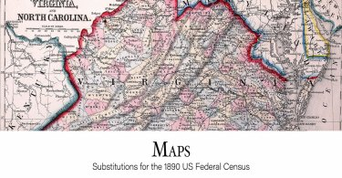 Maps: Substitutes for the 1890 US Federal Census