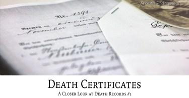 Death Certificates: A Closer Look at Death Records