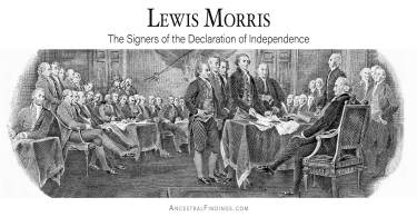 Lewis Morris: The Signers of the Declaration of Independence