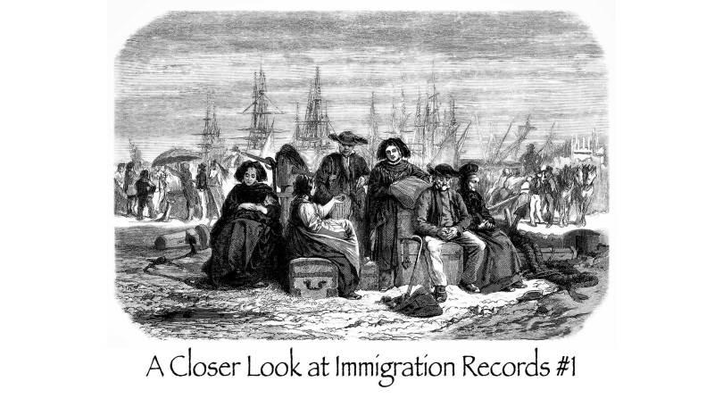 A Closer Look at Immigration Records #1