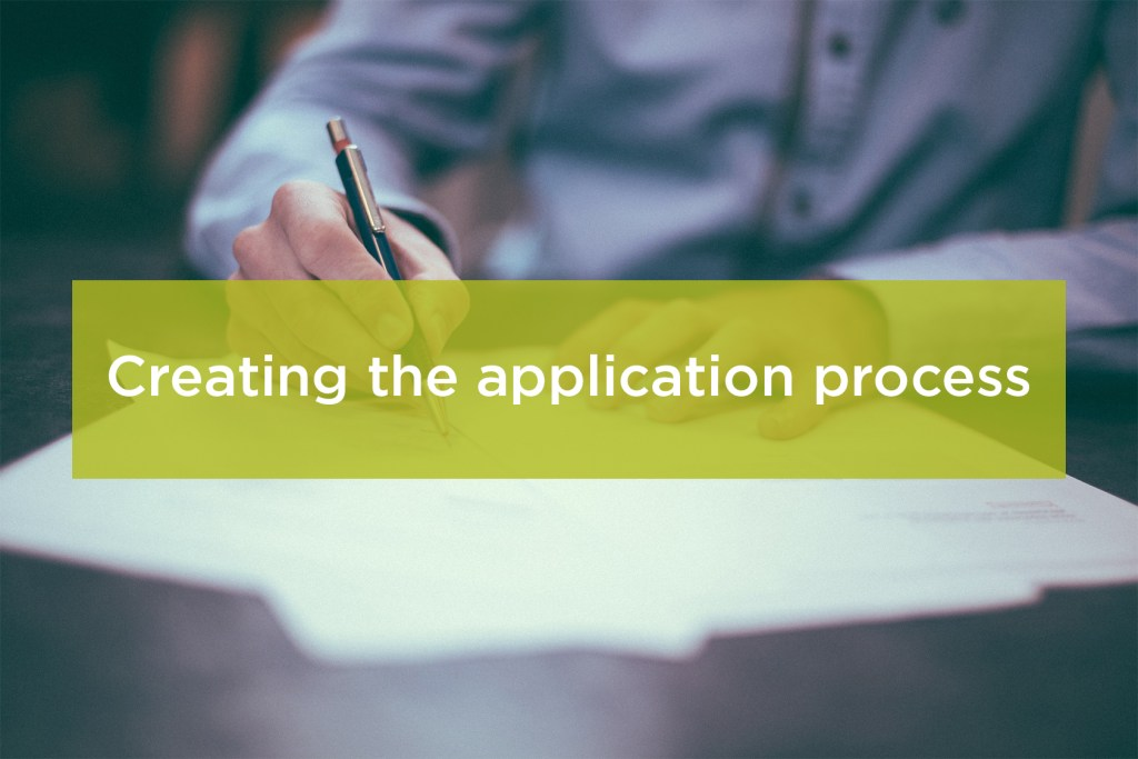 Create application process