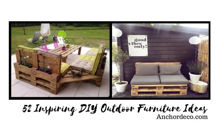 52 Inspiring DIY Outdoor Furniture Ideas