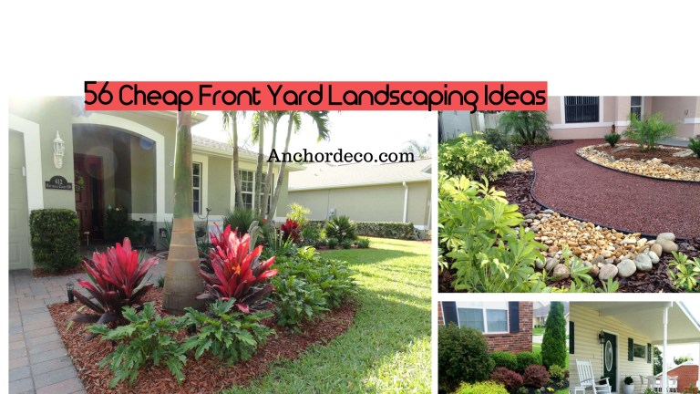 56 Cheap Front Yard Landscaping Ideas