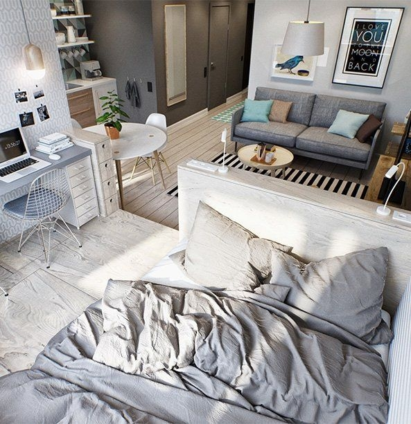 Amazing Ideas Decorating Studio Apartment 12