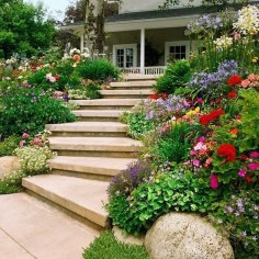 Beautiful Flower Garden for Your Front Yard 17
