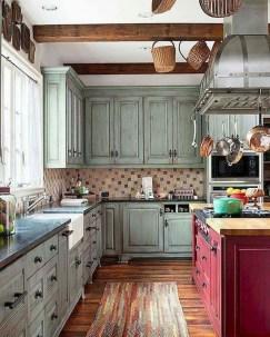 Best DIY Farmhouse Kitchen Decorating Ideas 31