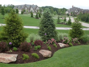 Clever & Beautiful Yard Island Landscaping for Backyard and Front yard 05