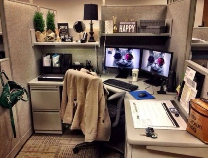 Cubicle Workspace Decorating Ideas 38